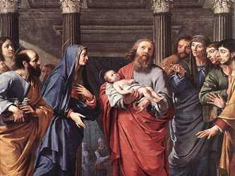 El anciano Simeón, movido por el Espíritu Santo, descubre a María los sufrimientos que padecerá un...