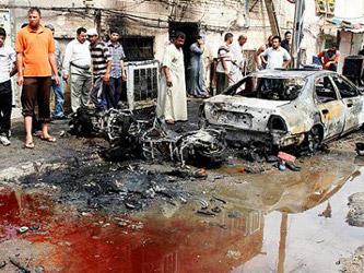 Un minuto mas tarde, explotó un segundo vehículo cerca de la oficina del frente turcomano, distante...