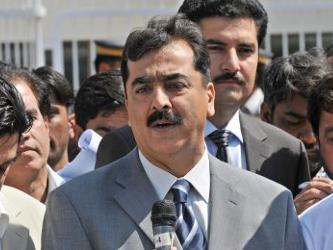 """""""Hoy se celebra la última reunión de este gobierno"""", dijo Raza Gilani a sus ministros,..."""