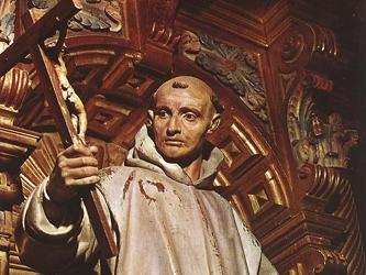 San Hugo, obispo de Grenoble, vio en un sueño que siete estrellas lo conducían a él hacia un bosque...