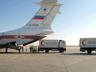Desde un aeropuerto de Moscú partió con destino a Damasco, la capital siria, un avión con cerca de...