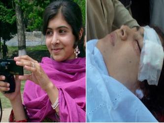 Malala Yousafzai, joven pakistaní que hace poco más de un año recibió un disparó en la cabeza luego...