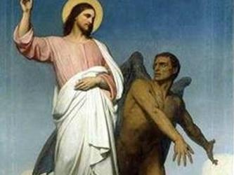 Entretanto, antes de la caída de Adán, otro acto de orgullo había causado la perdición eterna de...