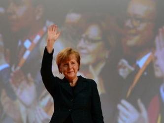 Merkel, que junto al presidente francés, Francois Hollande, deberán reunirse con Putin el...