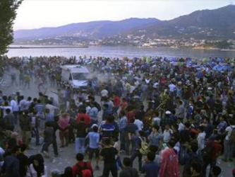 """""""Hoy millones de posibles refugiados y migrantes sueñan con Europa"""", afirmó Tusk ante el..."""