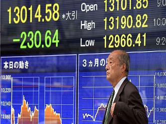 El índice MSCI de acciones asiáticas fuera de Japón sólo lograba una ganancia leve de un 0,1 por...