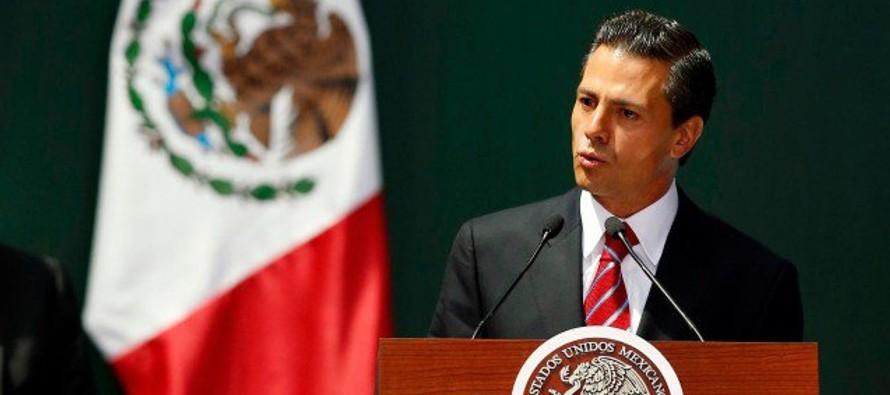 Nueva ley frenar� endeudamiento estatal: Pe�a Nieto