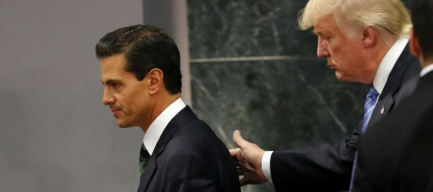 Pe�a Nieto admite su error con la visita de Trump