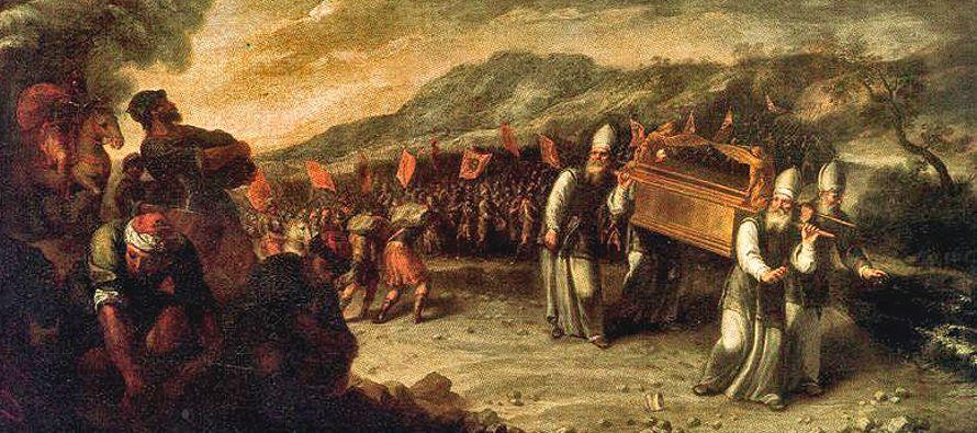 El pavor que infundía el Arca antigua y el pavor entre sus enemigos (cf. 1 Sam,l- 4), van de la...