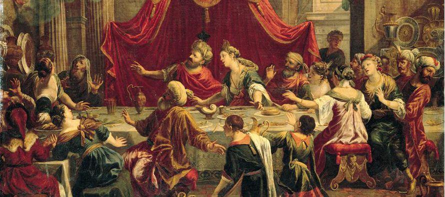 Baltasar, sucesor de Nabucodonosor,  hizo un banquete en su palacio para mil funcionarios reales....