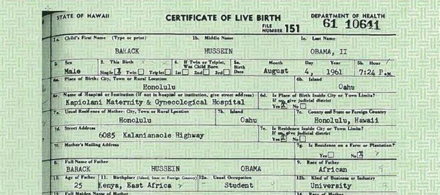 Contemporáneo Obama Falsificación Certificado De Nacimiento Imágenes ...