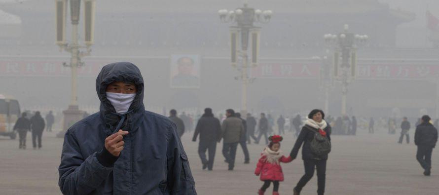 La capital china mantendrá la alerta naranja por contaminación hasta la madrugada del próximo...