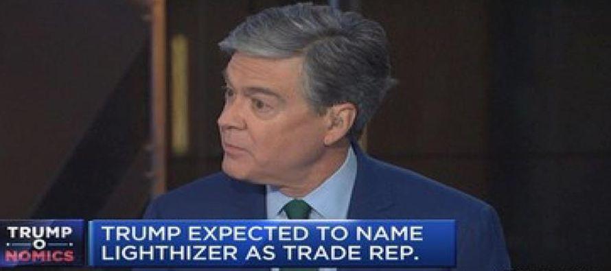 El presidente electo de EE.UU., Donald Trump, nominó hoy al abogado Robert Lighthizer, conocido...