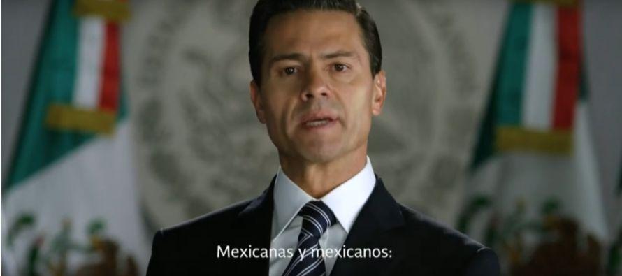 El mensaje de Peña Nieto se produce en medio de una ola de protestas en el país contra el alza del...