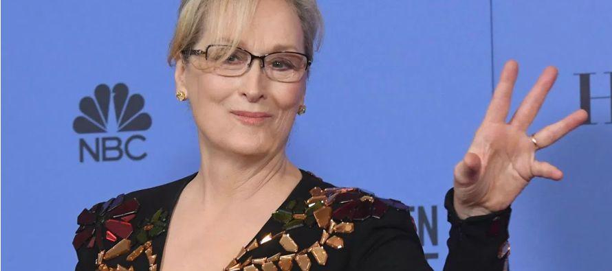 Un discurso breve y firme de la actriz más prestigiosa de Hollywood, la más premiada y con una...