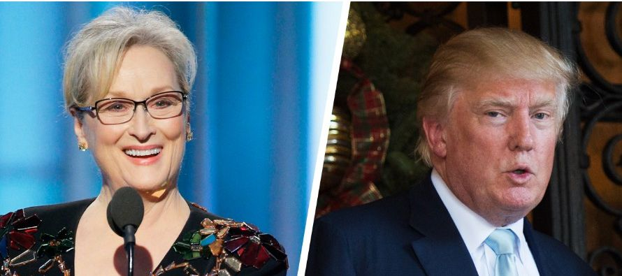 """El presidente electo aseguró, además, no estar sorprendido por los ataques de Streep, al recordar que la actriz es una """"amante de Hillary (Clinton)"""" y participó en la Convención Demócrata que nominó en julio pasado a la ex secretaria de Estado como candid"""