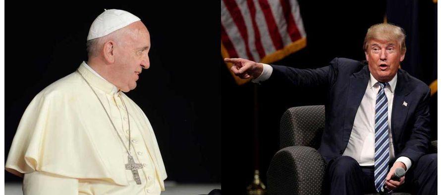 """En la misiva, el pontífice expresa su deseo de que, bajo el liderazgo de Trump, """"la estatura..."""