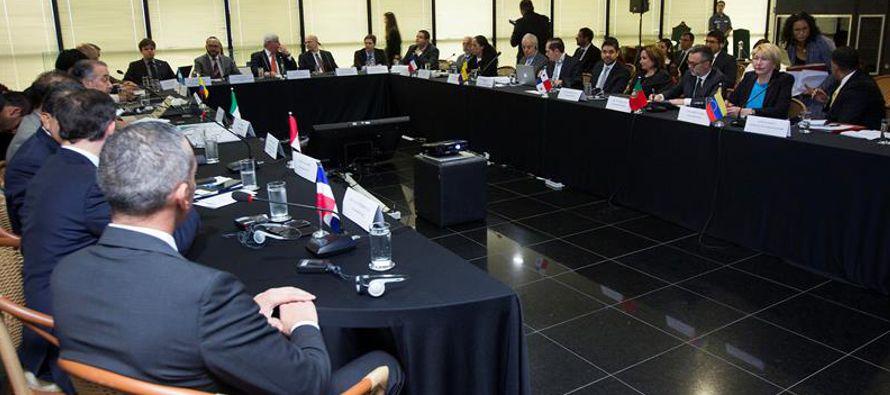 En la reunión estuvieron presentes representantes de Argentina, Chile, Colombia, Ecuador, México,...