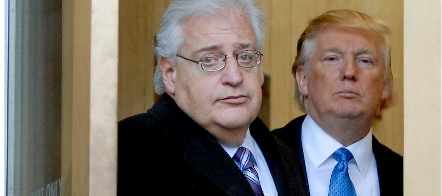Friedman, un abogado que ha apoyado abiertamente la construcción de asentamientos en territorio...