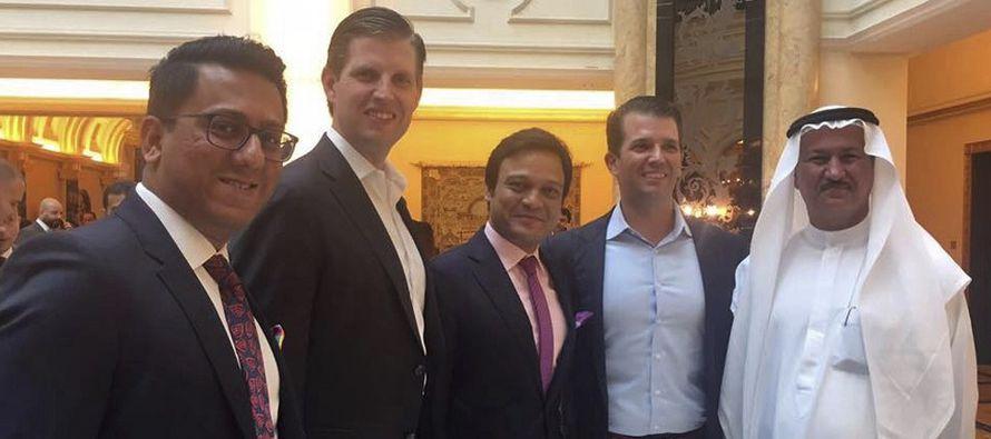 Hijos de Trump inauguran campo de golf en Dubái