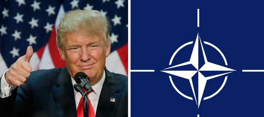 """Trump dice que es un """"fan de la OTAN"""" pero muchos países no pagan su parte"""