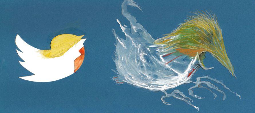 Donald Trump y su pájaro rabioso