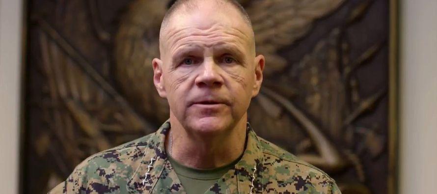 El general Robert Neller, en un crítico mensaje en video difundido el martes, dijo que las fuerzas...