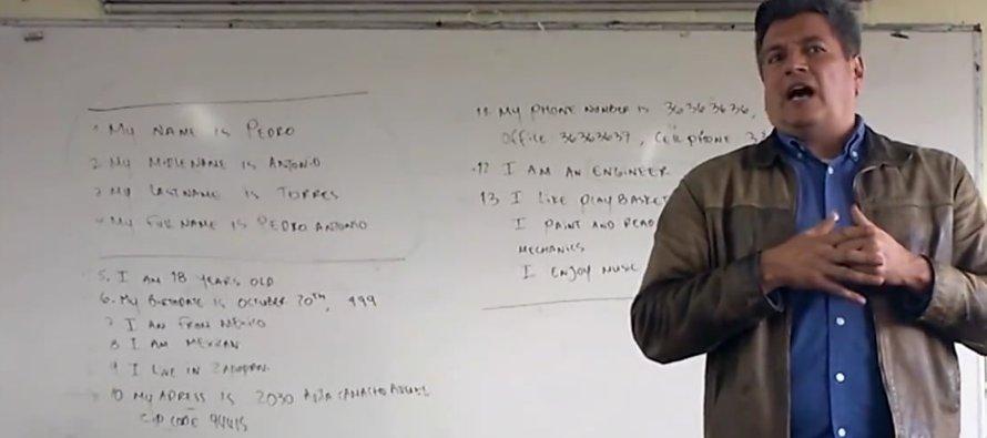 En la grabación de cerca de dos minutos, Ramón Bernal Urrea, maestro de la Preparatoria 10 de la...