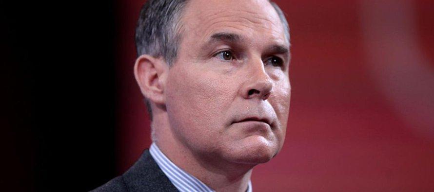 Scott Pruitt, administrador de la EPA, dijo que medir el efecto de la actividad humana sobre el...