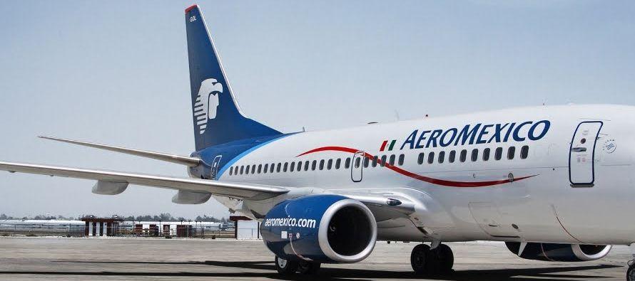 A las 12.48 hora local (1848 GMT), los papeles de Grupo Aeroméxico perdían un 7.68 por ciento a...