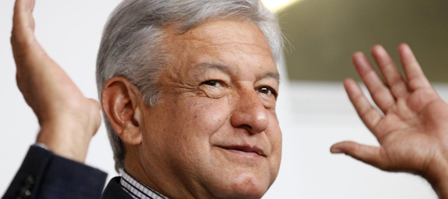 El líder del Movimiento de Regeneración Nacional, que planea ser candidato presidencial en México...