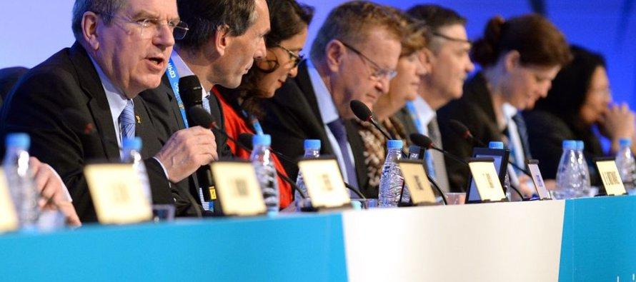 """La junta del COI pidió a sus cuatro vicepresidentes que """"evalúen cambios"""" al proceso de..."""
