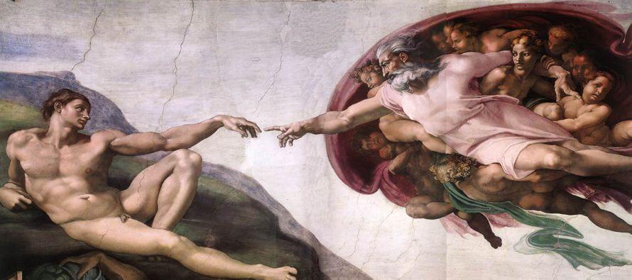 Es manifiesto que se encuentra en el hombre cierta semejanza de Dios, semejanza que deriva de Dios...