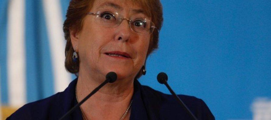 """Trump llamó a Bachelet este domingo a las 16.30 hora local y le """"planteó su preocupación""""..."""