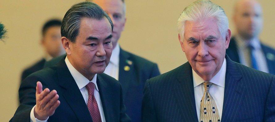 La reunión entre Tillerson y Xi servía como preparativo a la que tendrán en dos semanas el jefe de...