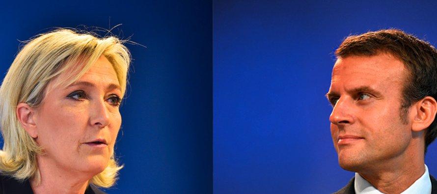 Uno de los diálogos más acalorados fue cuando Le Pen acusó a Macron de estar a favor del burkini,...
