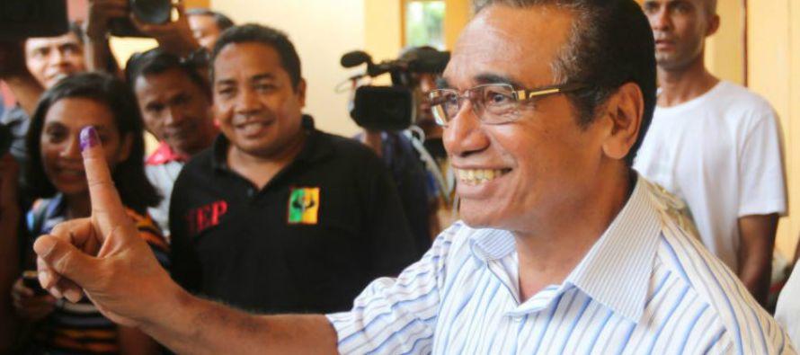 El exlíder guerrillero Francisco Guterres será el próximo presidente de Timor Oriental al lograr la...