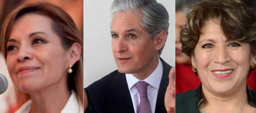 Los candidatos a gobernador del Estado de México cumplieron hoy con su registro formal ante el...