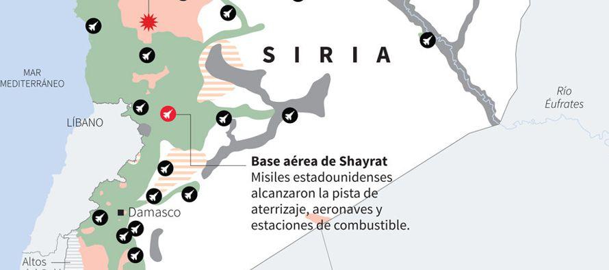 El ataque contra la base aérea siria Shayrat es la primera acción militar deliberada lanzada por...
