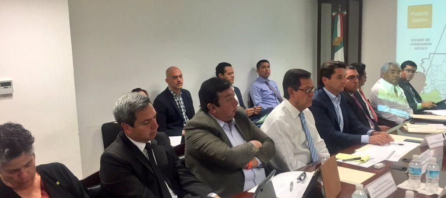 La visita de la Comisionada del mecanismo del caso, la panameña Esmeralda Arosamena de Troitiño, y...