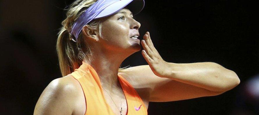 Sharapova avanza a cuartos de final en Stuttgart