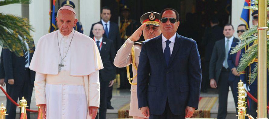 """El papa apela ante Al Sisi al """"respeto incondicional"""" de los derechos humanos"""