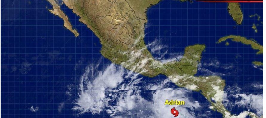 Adrián se adelantó seis días a la temporada de lluvias que comienza oficialmente en México el 15 de...