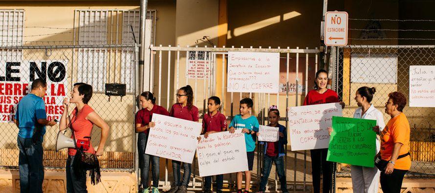 Así que, al igual que otras 178 escuelas en toda la isla, está programado que Luis Santaella cierre...