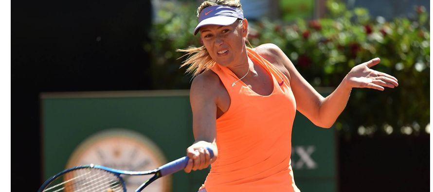 Sharapova, que no ha conseguido todavía los puntos necesarios para poder competir en los torneos...