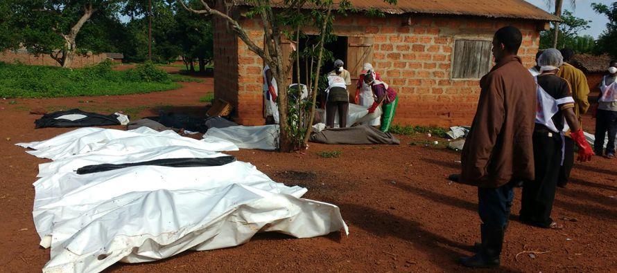 Los enfrentamientos entre milicias en la localidad de Bria, en el centro del país, dejaron cinco...