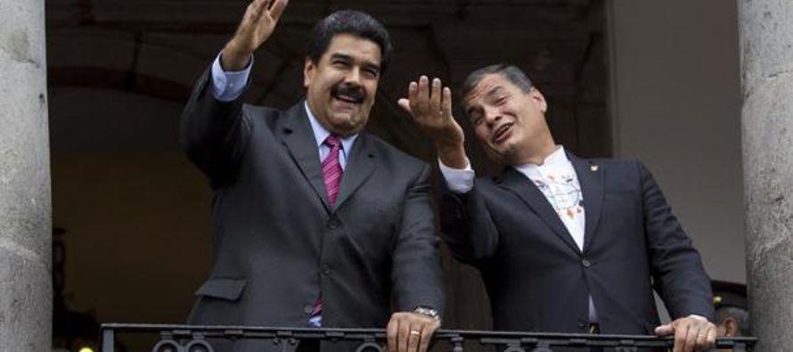 """Correa ha admitido que la situación en Venezuela es """"preocupante"""", pero aclaró que no..."""