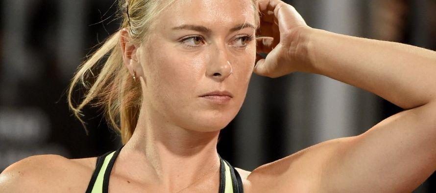 La victoria de Sharapova en la primera ronda del Abierto de Roma, del que después se retiró por...