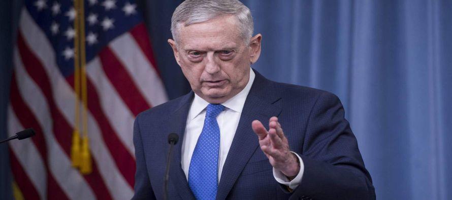 """""""Llevamos a cabo una campaña de aniquilación"""", dijo el secretario de Defensa, Jim Mattis,..."""