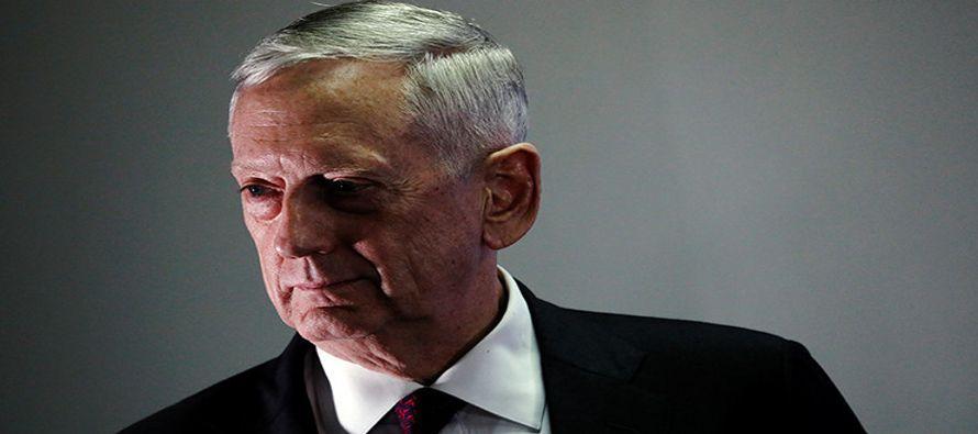 Mattis ha reiterado que la estrategia de Estados Unidos con respecto a Pionyang seguirá siendo la...